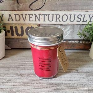 NEW Rae Dunn APPLE Crisp Red Mason Jar Candle